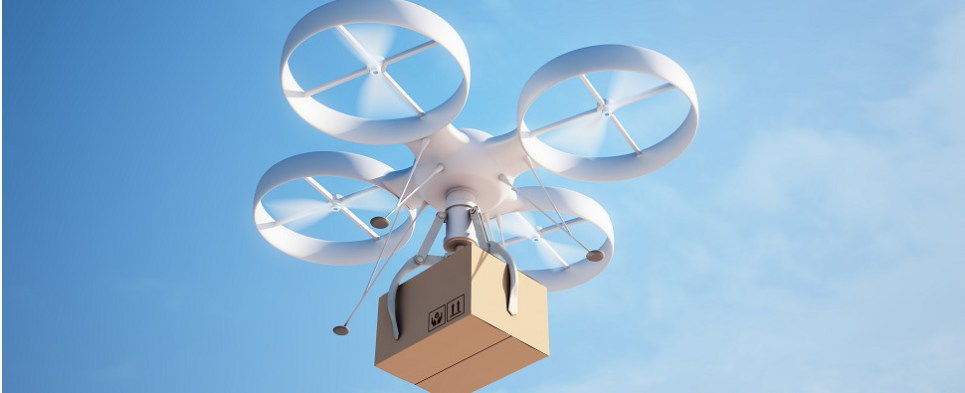Drones may be used to deliver shipments of export cargo and import cargo in international trade.