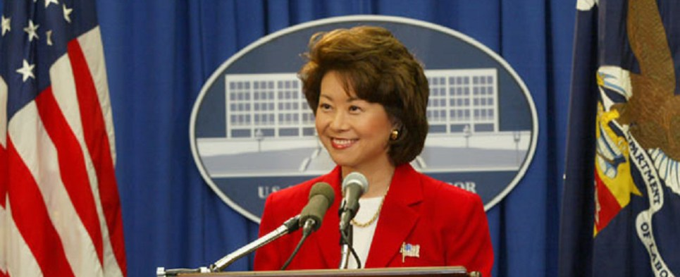 New transportation secretary will oversee infrastructure spending that will impact handling of shipments of export cargo and import cargo in international trade.