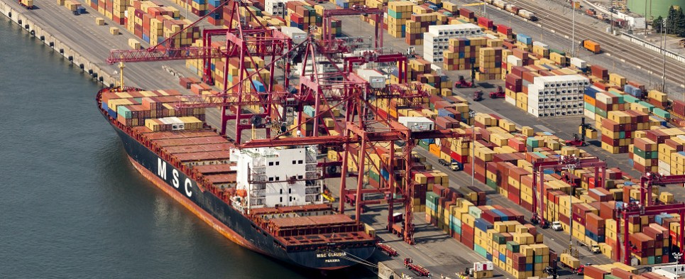 Expansion of cotnainer facility at port of Montreal will allow it to handle more shipments of export cargo and import cargo in international trade.