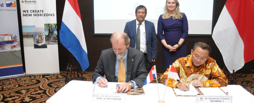 Port of Rotterdam to help develop ports in Indoneesia to handle shipments of export cargo and import cargo in international trade.
