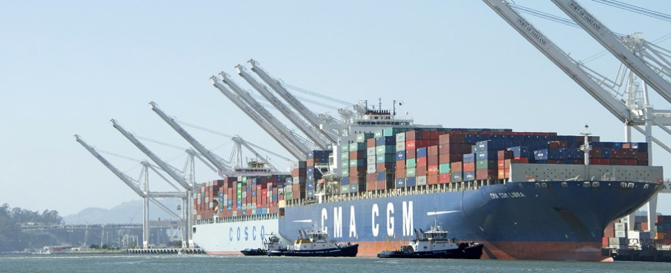 Cosco and CMA CGM cooperating on shipments of export cargo and import cargo in international trade.