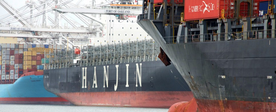 Hanjin will never again carry shipments of export cargo and import cargo in international trade.