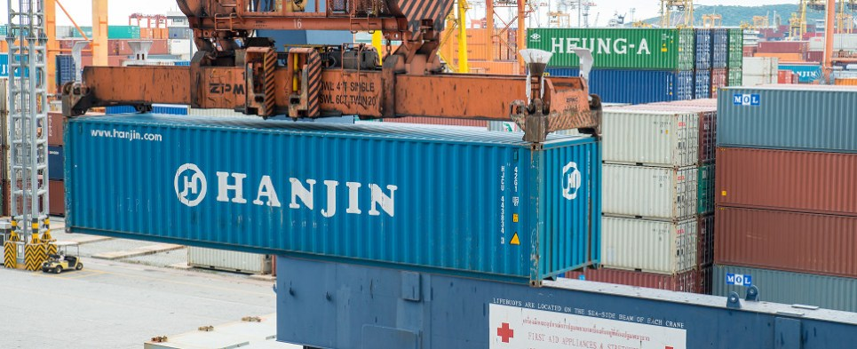 ant evidence that the Hanjin bankruptcy caused ocean shipments of export cargo and import cargo in international trade to switch to air.