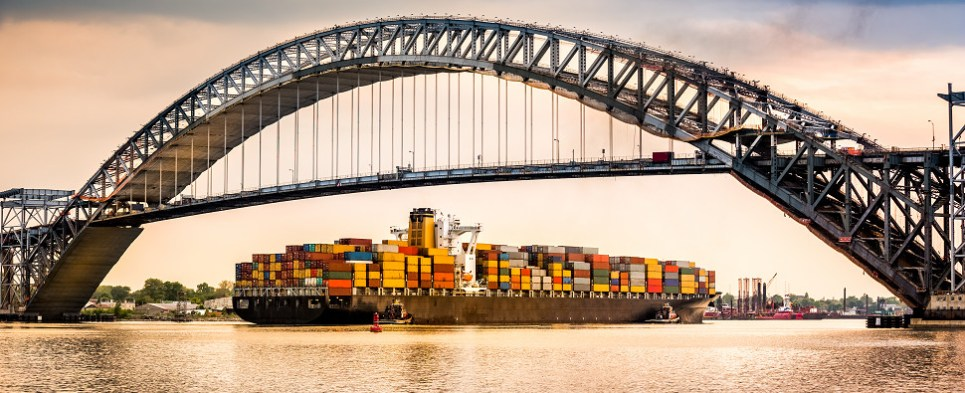 Raising of NYNJ's Bayonne Bridge will allow port to handle more shipments of export cargo and import cargo in international trade.
