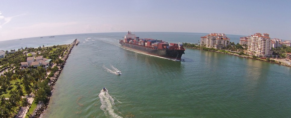 Florida's economy depends on shipments of export cargo and import cargo in international trade.