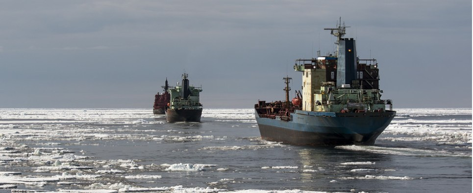 Mixed signals on Arctic shipments of export cargo and import cargo in international trade.