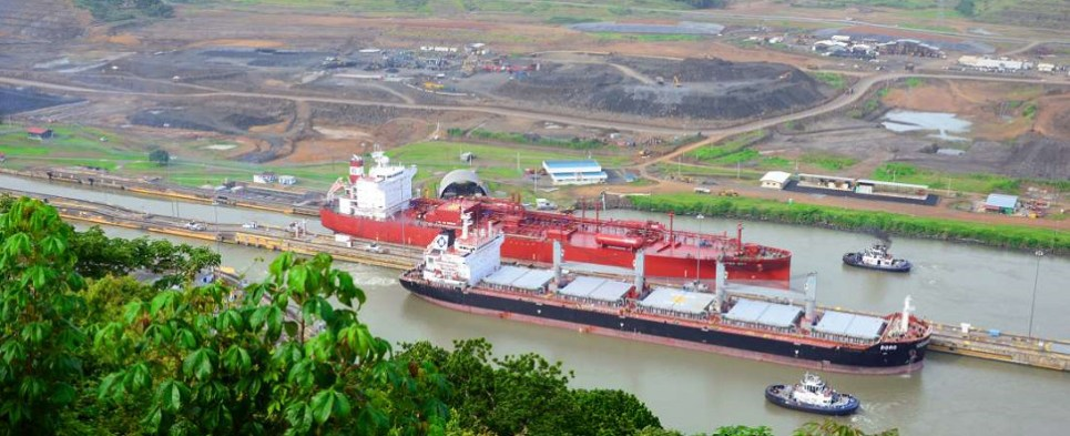 The Panama Canal is seeing growing shipments of export cargo and import cargo in international trade.
