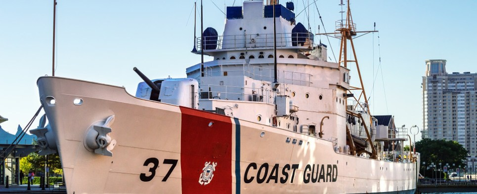 The US Coast Guard protects shipments of export cargo and import cargo in international trade.