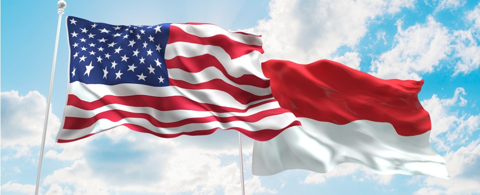 US and Indonesia discuss shipments of export cargo and import cargo in international trade.