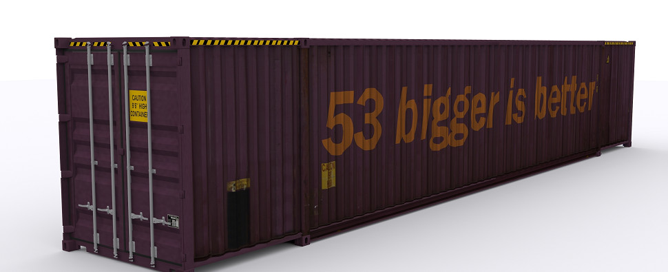 Using intermodal for shipments of export cargo and import cargo in international trade.