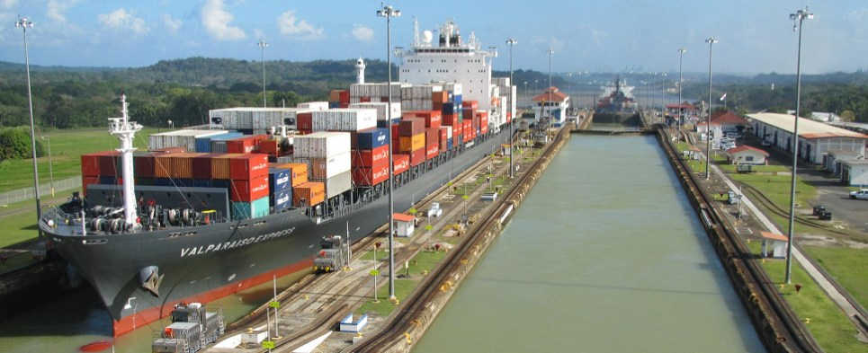 Panama Canal is handling more shipments of export cargo and import cargo in international trade.