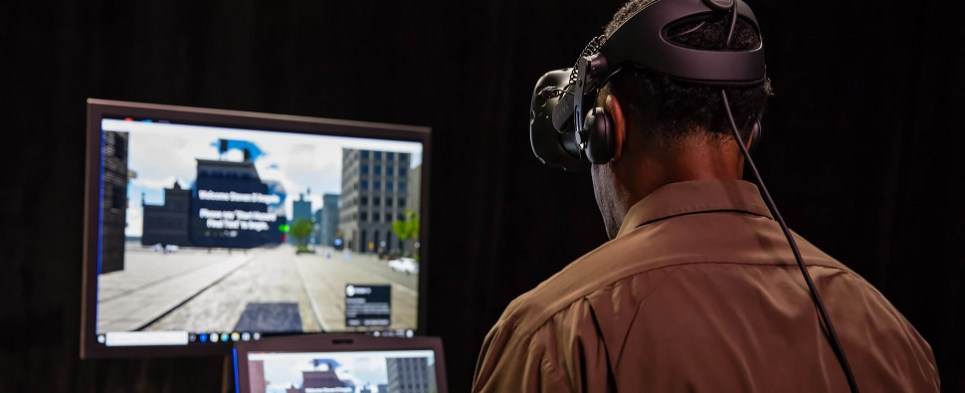 UPS using virtual reality to train drivers delivering shipments of export cargo and import cargo in international trade.