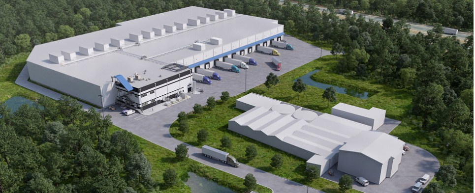 New warehouse will be processing shipments of export cargo and import cargo in international trade.