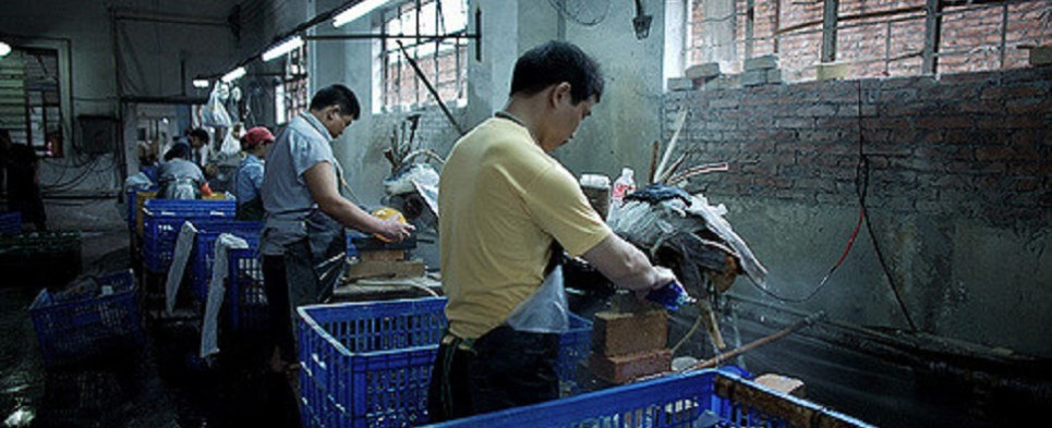 Report on forced labor in China that prodices shipments of export cargo and import cargo in international trade.
