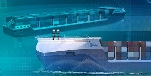 Autonomous vessels will carry shipments of export cargo and import cargo in international trade.