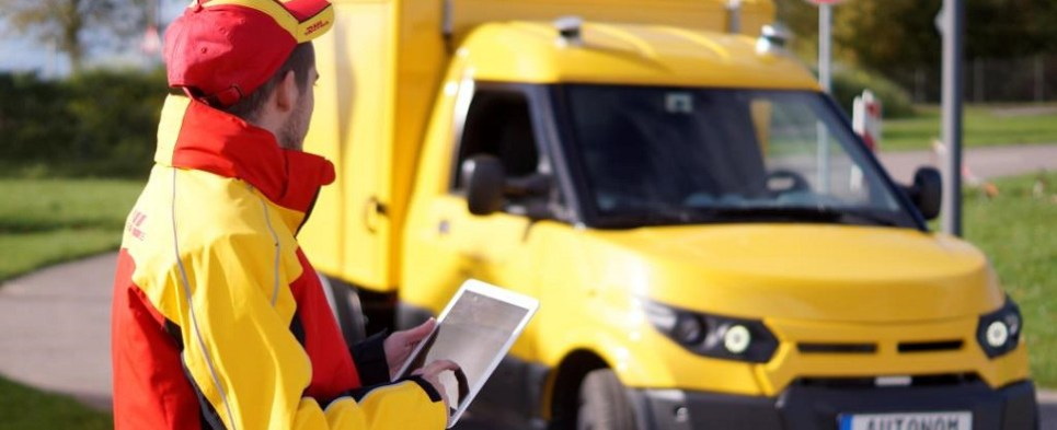 DHL will use autonomous vehicles to deliver shipments of export cargo and import cargo in international trade.