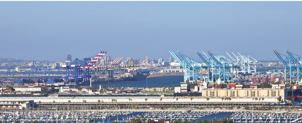 Port of Long Beach is handling more shipments of export cargo and import cargo in international trade.