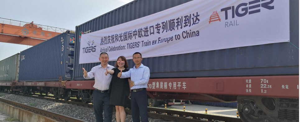 Using rail for EU-China shipments of export cargo and import cargo in international trade.