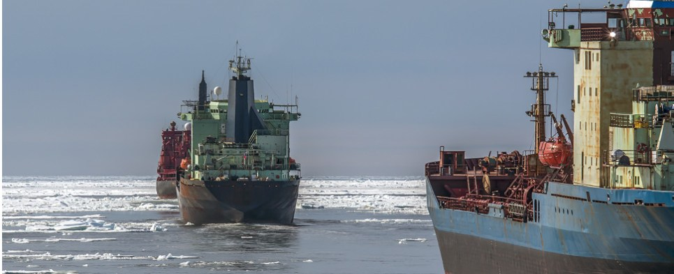 Receding ice enables more shipments of export cargo and import cargo in international trade too be shipped through the Arctic.