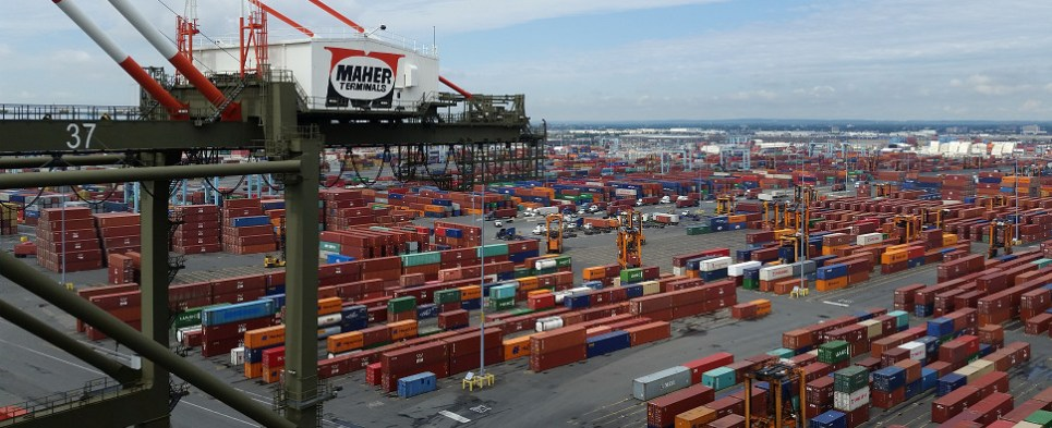 Smart containers carry shipments of export cargo and import cargo in international trade.