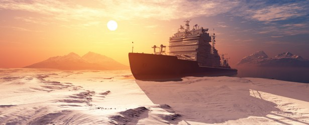 Melting ice allows more shipments of export cargo and import cargo in international trade to transit Arctic routes.