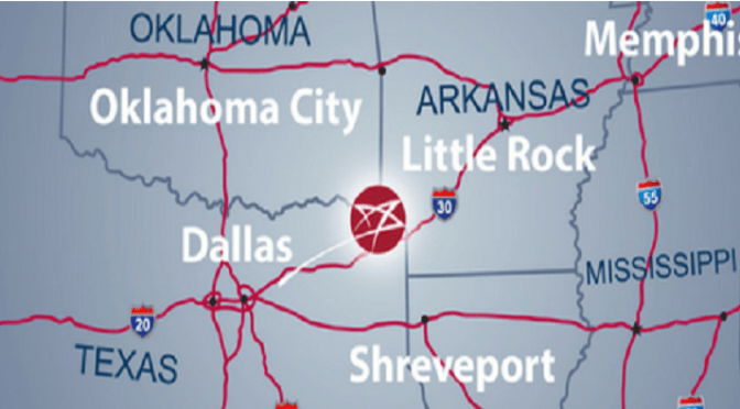Texas miuxed-use facility has companies with shipments of export cargo and import cargo in international trade.