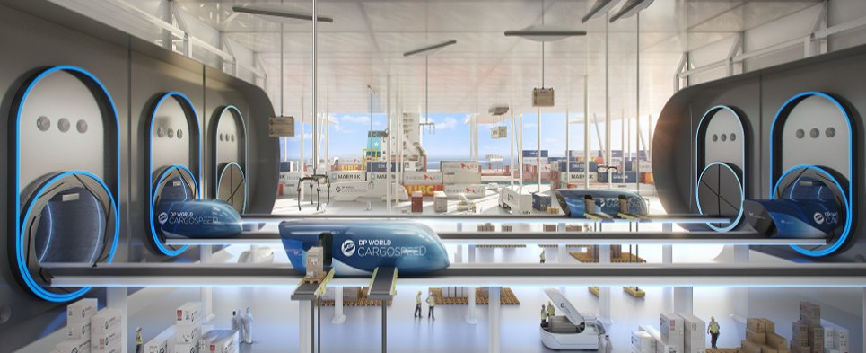 Hyperloop will carry shipments of export cargo and import cargo in international trade.