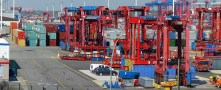 Port infrastructure facilitates shipments of export cargo and import cargo in international trade.