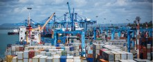 Ports handle shipments of export cargo and import cargo in international trade.