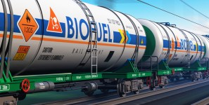 New fuels are being used in trucks that deliver shipments of export cargo and import cargo in international trade.