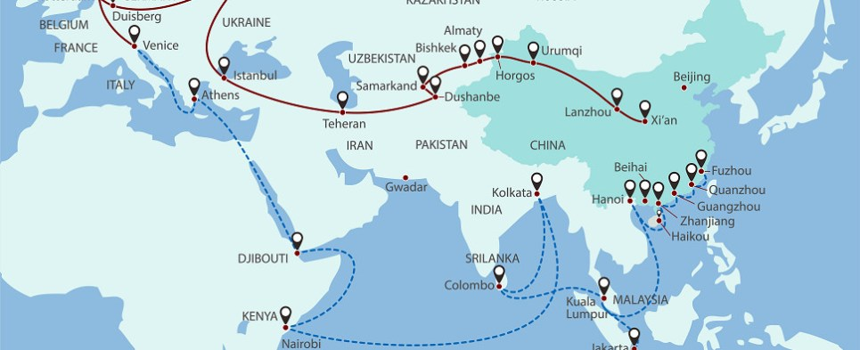 New Silk Road carries shipments of export cargo and import cargo in international trade.