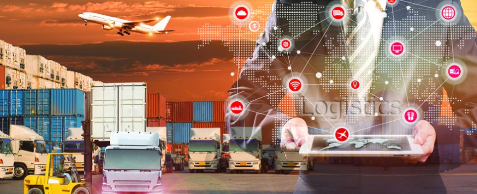Trucking app helps manage shipments of export cargo and import cargo in international trade.