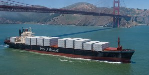 Pasha's Jones Act vessels don't move shipments of export cargo and import cargo in international trade.