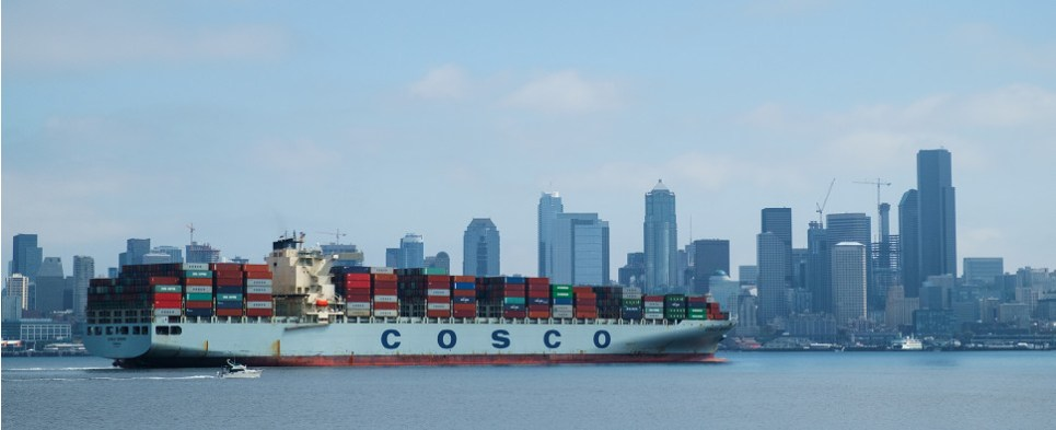 Environmental efforts for carriers carrying ocean shipments of export cargo and import cargo in international trade.