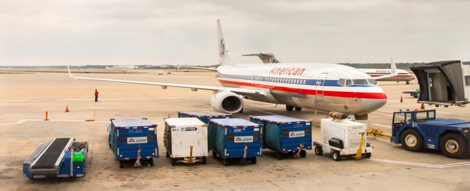 AA carried more shipments of export cargo and import cargo in international trade.