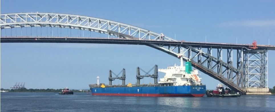USCG salvages vessel carrying shipments of export cargo and import cargo in international trade.