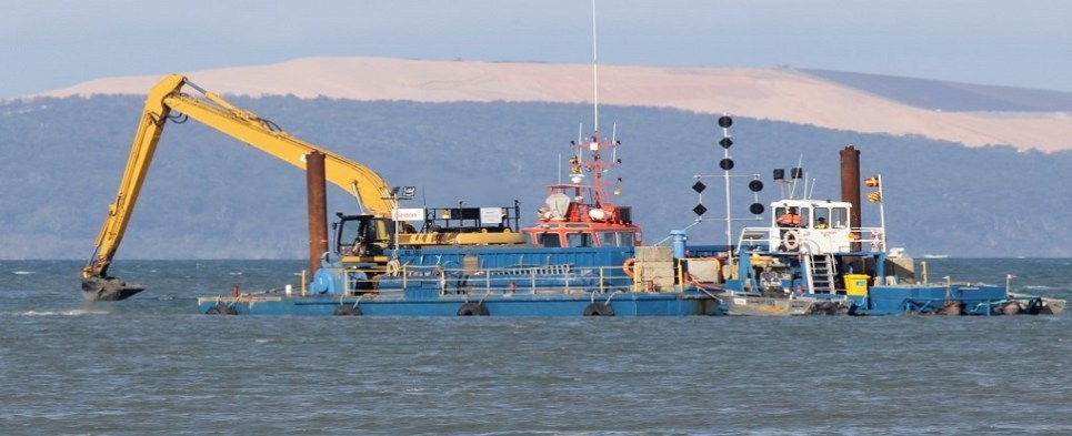 Dredging will allow ports to handle more shipments of export cargo and import cargo in international trade.