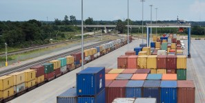 Inland facilities allow ports to handle more shipments of export cargo and import cargo in international trade.