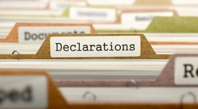 mandatory declaration