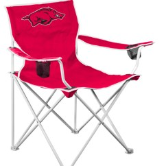 Folding Chair Nylon White Wood Rocking Arkansas Razorbacks Chairs Ncaa Tailgate