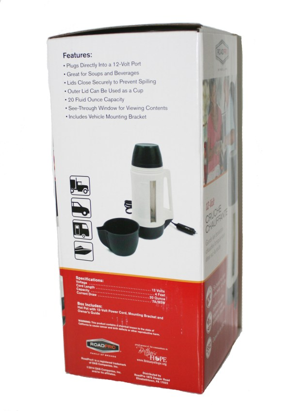 Volt Beverage Warmers - Rp5021 Water Heaters Road Pro Small And