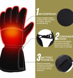 3 7v heated gloves with rechargeable battery winter warm heating gloves cold weather hikking skiing  [ 2000 x 2000 Pixel ]