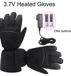 3 7v heated gloves with rechargeable battery winter warm heating gloves cold weather hikking skiing  [ 1000 x 1000 Pixel ]