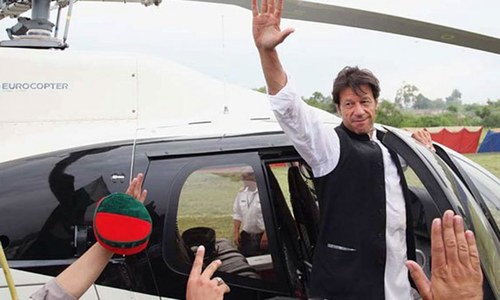 Imran Khan's helicopter lands him in NAB's trouble-box
