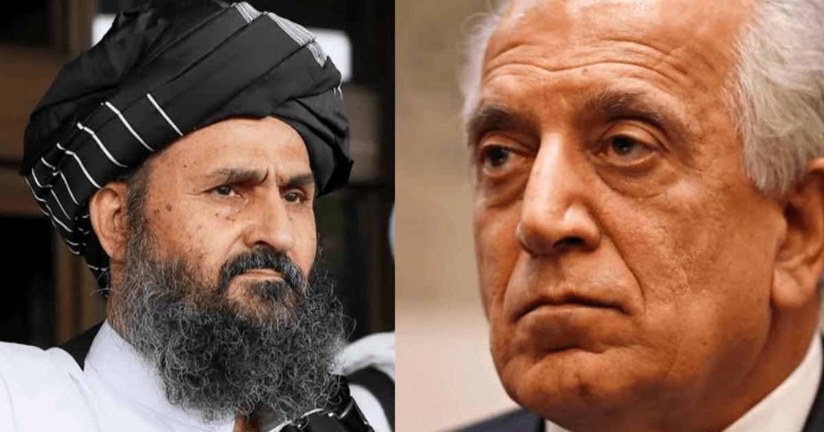 Taliban Deal: Credit Zalmay Khalilzad & Mullah Baradar - Global Village Space