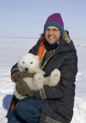 Dr. Nick Lunn in the field - Photo courtesy of Polar Bear International