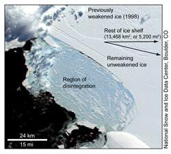Wilkins Ice Shelf faces imminent breakup