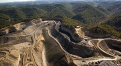 James Hansen protests mountaintop removal mining in West Virginia
