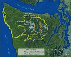 Figure 1: The Olympic Peninsula, Washington, USA.9
