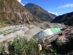Construction of a second Hydro-electric station on the Rio Urubamba, Peru